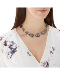Coast - Gray Charcoal 'ayla' Crystal Statement Necklace - Lyst