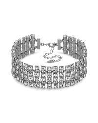 Lipsy Metallic Crystal Statement Choker Necklace for men