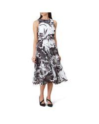 Hobbs Black Floral Print 'yasmin' Tea Dress