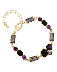 J By Jasper Conran Purple Multi Crystal Bracelet