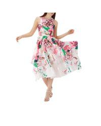 Coast Pink Floral Print 'erica' Jacquard Midi Dress