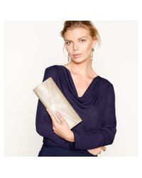 J By Jasper Conran - Natural Glitter Envelope Clutch Bag - Lyst