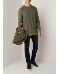 Tommy Hilfiger Fijngebreide Pullover Van Katoen in het Green voor heren