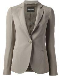 Emporio Armani | Gray Classic Blazer | Lyst
