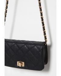 Forever 21 Black Quilted Faux Leather Crossbody