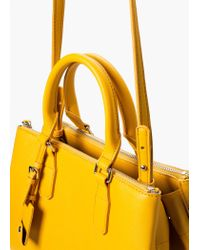 Mango | Yellow Zip Tote Bag | Lyst