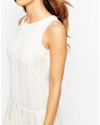 ASOS White Petite Maxi Dress In Lace