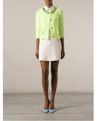 Boutique Moschino - Green Cropped Box Jacket - Lyst