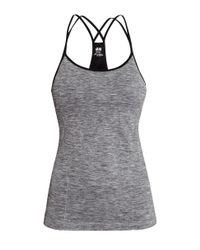 H&M Gray Seamless Yoga Top With A Bra