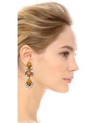 DANNIJO - Orange Dayna Earrings - Silver/crystal/italian Mustard - Lyst