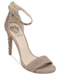 Vince Camuto - Natural Fora Studded Two-Piece Sandals - Lyst