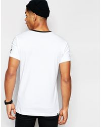 PUMA White T-shirt With Taping for men