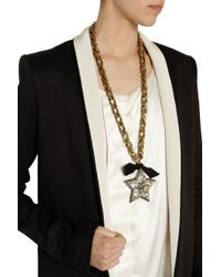 Lanvin | Metallic Altair Goldtone Swarovski Crystal Star Necklace | Lyst