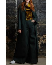 Rosie Assoulin Sophisticate Coat In Evergreen Neo Wool