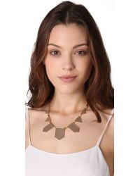 House of Harlow 1960 Natural Station Leather Necklace