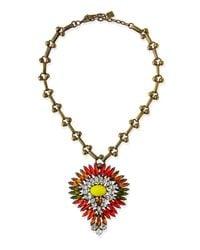 DANNIJO | Multicolor Khaleesi Crystal Necklace | Lyst