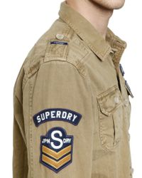 Superdry Natural Cotton Drill Army Shirt for men