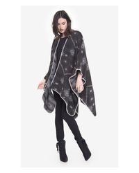 Express Gray Reversible Southwestern Print Blanket Cover-up
