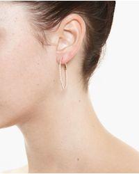 Rosa De La Cruz - Pink Medium 18k Rose Gold Hoop Earrings - Lyst