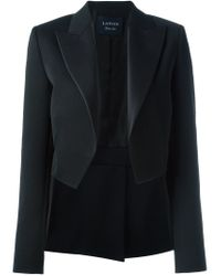 Lanvin - Black Wool and Silk-Blend Tuxedo Blazer  - Lyst