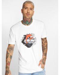 Pink Dolphin Männer T-Shirt Summer Waves in White für Herren