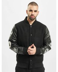 KTZ Männer College Jacke NBA Patch Varsity in Black für Herren