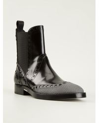 Alexander Wang - Black 'Nicole' Brogue Boots - Lyst