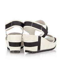 Pedro Garcia - Gray Flori Suede Wedge Sandals - Lyst