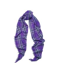 Ralph Lauren - Purple Plaid Scarf - Lyst