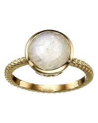 Cole Haan   Metallic Brilliant Cut Semi Precious Ring   Lyst