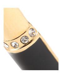 Saint Laurent Metallic Crystal-embellished Lipstick Earrings