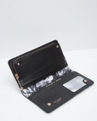 Ted Baker Black Maylam Ethereal Posie Crosshatch Matinã©e Purse