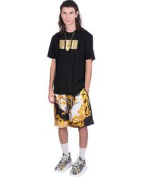 Versace T-shirt In Black Cotton for men