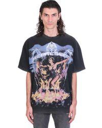 T-Shirt in Cotone Nero di Represent in Black da Uomo