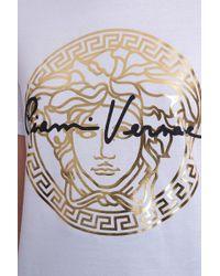 T-Shirt in Cotone Bianco di Versace in White