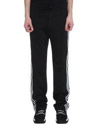 Pantalone in cotone nero di Y-3 in Black da Uomo