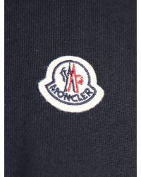 Moncler Blue Cotton And Nylon Sweatshirt for men