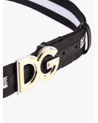 Dolce & Gabbana Multicolor Printed Cotton Belt for men