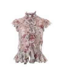 Alexander McQueen | Multicolor Floral Skull T-shirt | Lyst