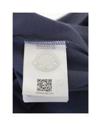 Moncler - Blue Cotton Piqué Polo for Men - Lyst