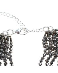 Night Market - Gray Silver Five Turns Necklace - Lyst