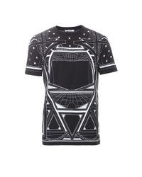 Givenchy Black Floral T-shirt for men
