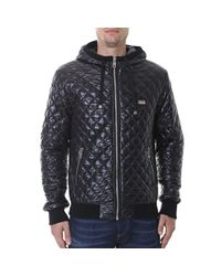 Dolce & Gabbana - Black Padded Nylon Jacket for Men - Lyst