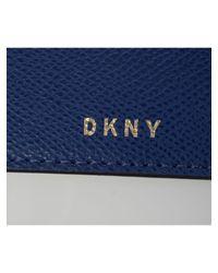 DKNY | Blue, Black And White Leather Bryant Park Miniflap Bag | Lyst