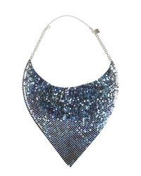 Paco Rabanne - Blue And Azure Metal Mesh Necklace - Lyst