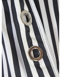 Marques'Almeida - Black And White Silk Buckled High Neck Blouse - Lyst