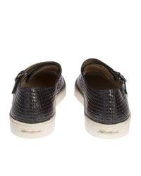 Santoni - Brown Weaved Leather Gloria Monkstrap for Men - Lyst