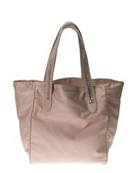 Stella McCartney | Pink Faux Leather And Nylon Falabella Tote | Lyst