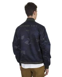 Moncler - Blue Graf Reversible Cotton And Nylon Camouflage Jacket for Men - Lyst