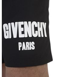 Givenchy Logo Print Black Swimming Shorts for men